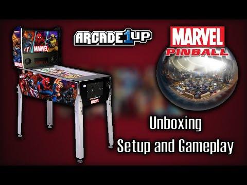 Arcade1up Marvel Pinball Setup and Gameplay from MadDadsGaming