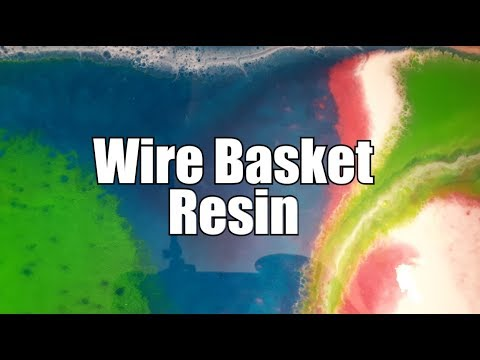 111 - Resin for the top of a wire basket. Love it!