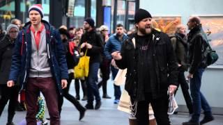 Arctic30 Solidarity Flashmob  with Rickard Söderberg at the central station in Malmö