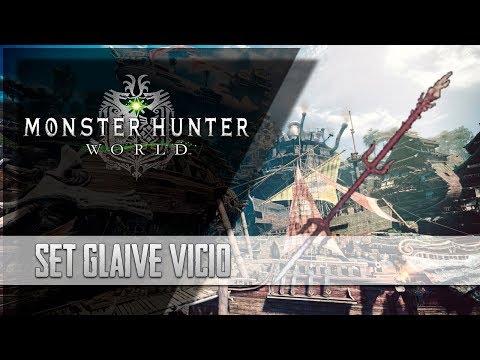 [Masa Guía] Monster Hunter  World - Set para el Glaive de Odogaron [100% Críticos]