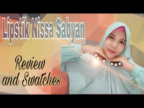 lipstik-favorit-nissa-sabyan-|-review-and-swatches-|-viral