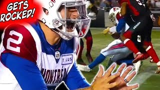 Johnny Manziel Gets ROCKED in His 2nd CFL Start!! Shows Heart and Improvement!