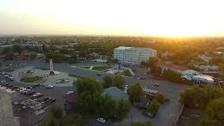 Аэро видео сьемка город Шу
