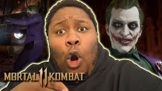 Mortal Kombat 11 Joker Gameplay Trailer REACTION!!