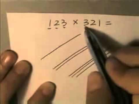 Интересный способ умножать большие числа