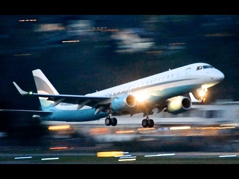 Embraer Lineage 1000 - Takeoff in Berne HD