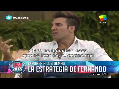 Gran Hermano 2015: Fernando puso en la mira a Matías y planea una estrategia
