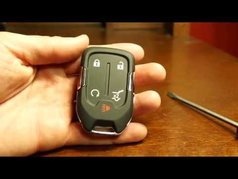 2017 Gmc Acadia Key Fob Battery Replacement Youtube