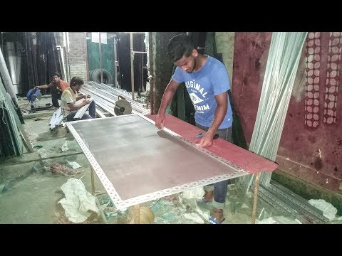 How To Install Mosquito Net In Window Frame - মশারোধী নেট সেটআপ | RK Thai Aluminium Fabricators