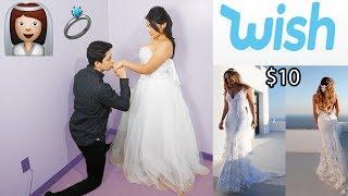 Boyfriend Rates My Wedding Dresses From Wish!
