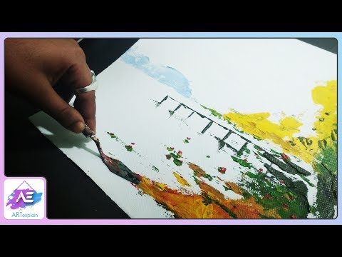Abstract painting | Abstract painting Demonstration in Acrylics | Art explain