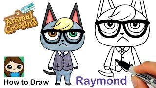 How to Draw Raymond the Cat | Animal Crossing