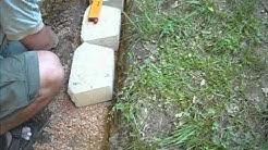 Building a Concrete Block Retention Wall
