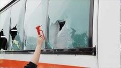 Linja-auton ikkuna hätäpoistumistienä