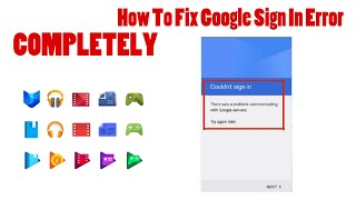 How To Fix Google Sign In Error For Android (Read Description For More Details)