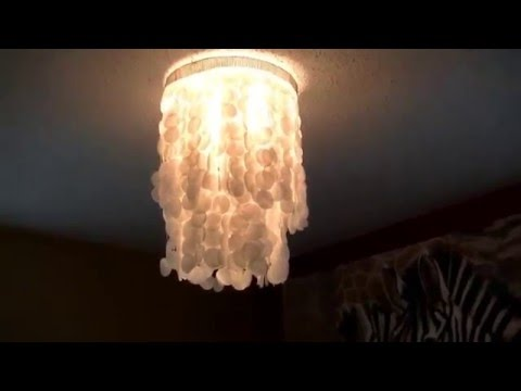Beautiful DIY Chandelier out of Wax Paper