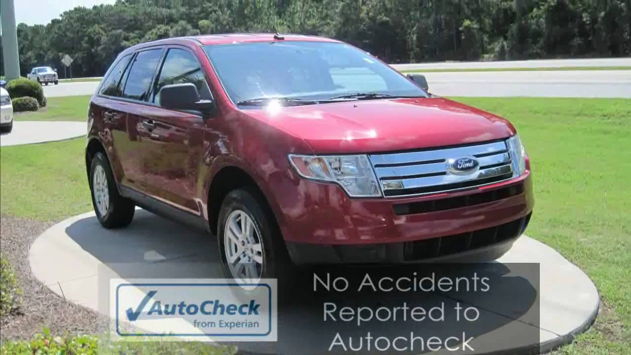 Edge  Ford Edge Red Suv One Owner Local Trade No Accidents