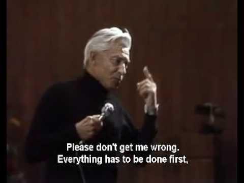 Karajan talks about Maestro Karl Bohm