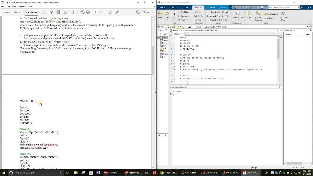 Modulation code vsb matlab ECE 5520