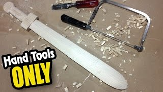 How to Make a Wood Sword with NO power tools