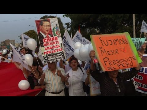 Hundreds supporting Fujimori pardon demonstrate in Lima