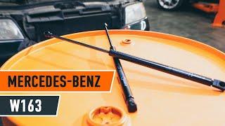 Wymiana Sprężyna gazowa pokrywy bagażnika MERCEDES-BENZ M-CLASS: instrukcja napraw