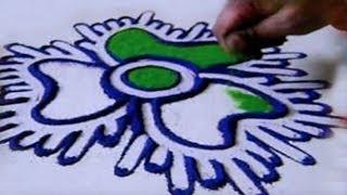 Repeat youtube video Special Rangoli Design 16