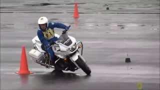 【全国白バイ安全運転競技大会】島根県警代表と熊本県警代表