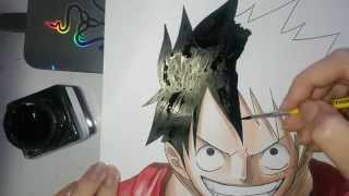 Speed Drawing - Monkey D. Luffy (One Piece)