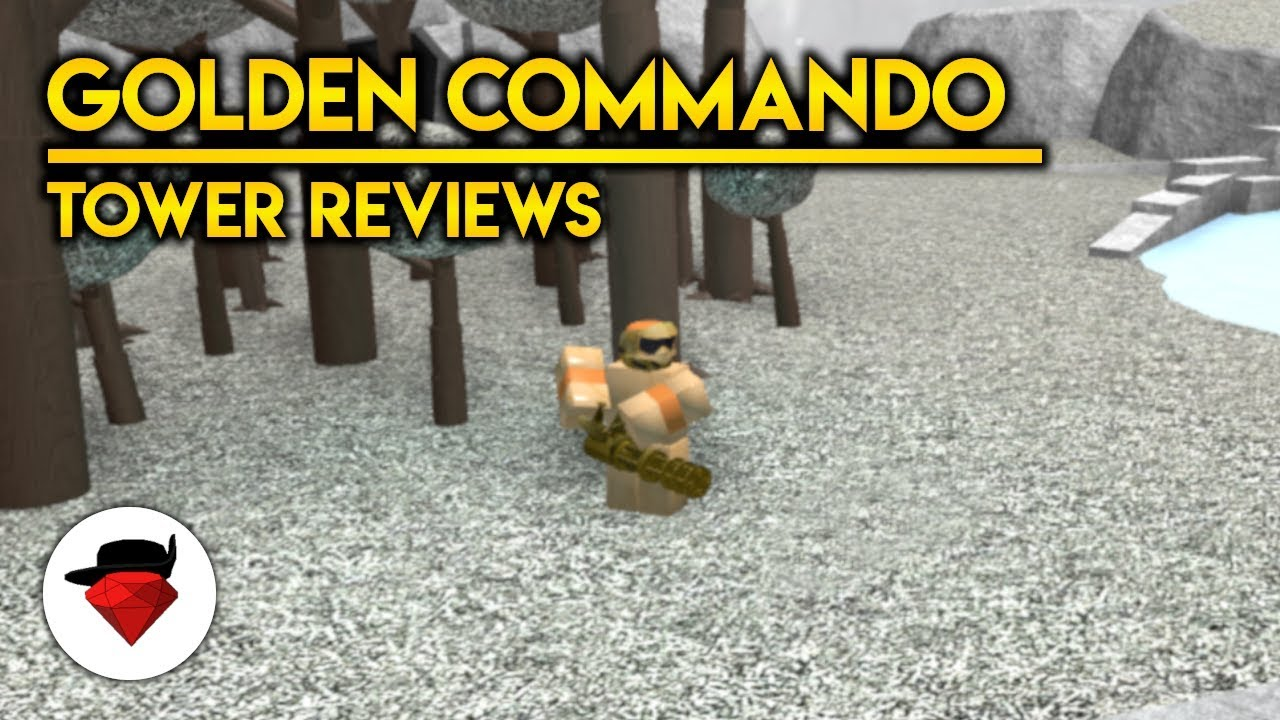 Golden Commando Tower Reviews Tower Battles Roblox Youtube