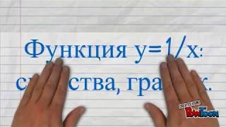 Функция у=1/х: свойства, график