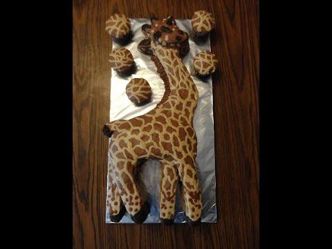How To Make A Fun Giraffe Birthday Cake Youtube