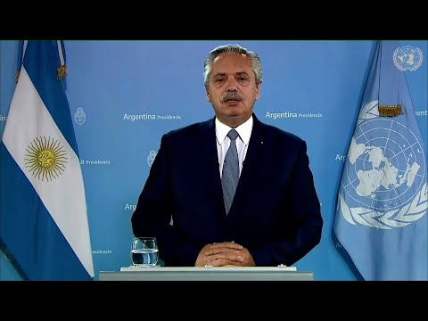 Alberto Fernández habló ante la ONU