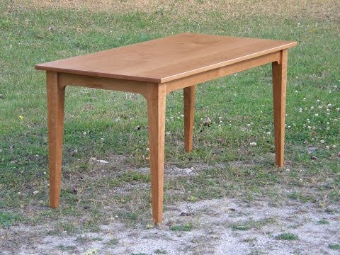 Cherry Table (part 2/3) -- Making the Top and Base - YouTube