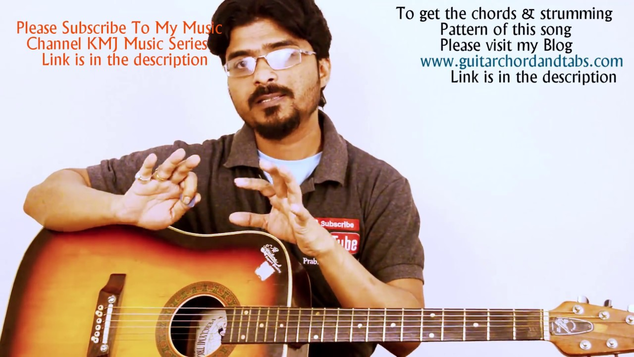 Lag Ja Gale Easy Guitar Chords And Strumming Lesson Step By Step