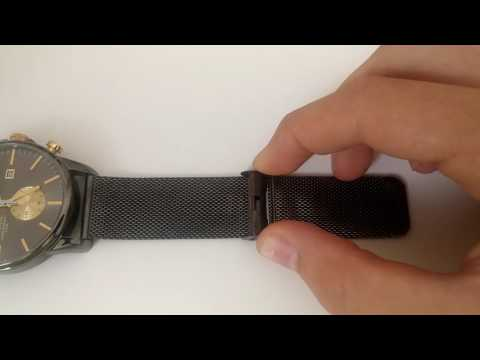 How to Adjust a Watch Clasp on a Metal Mesh Strap