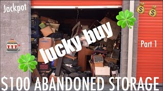 $100 Abandoned Storage locker, 🎰 check out this jackpot! Part 1 #HustleGrindRewind