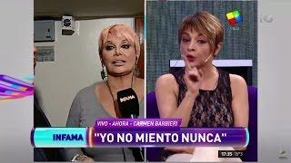 El fuerte cruce en vivo entre Carmen Barbieri y Marcela Feudale