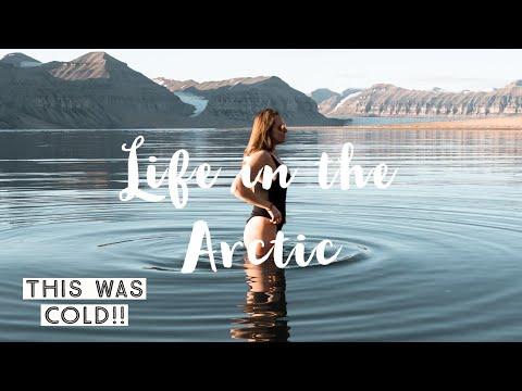 Swimming in the 2°C Arctic ocean!   SVALBARD ice bath   Longyearbyen, Northern Norway
