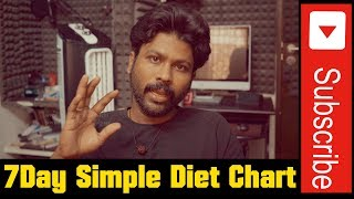 Weight Loss in 7-day Simple diet Chart | Health Tips | Esh R