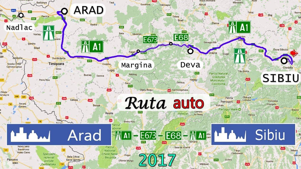 Ruta Auto Arad Sibiu A1 E673 E68 A1 Sony As300 Youtube