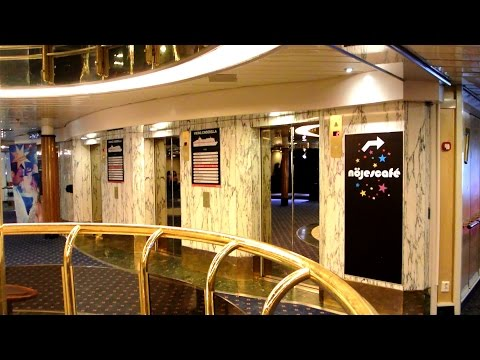 FULL TOUR of the amazing 1989 DAN elevators @ Cruiseferry M/S Cinderella (Viking Line)