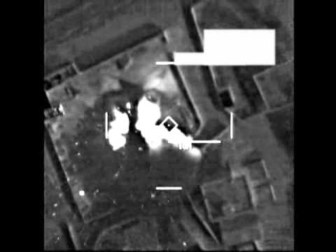 Operational video of a U.S. airstrike against an ISIL logistics base west of Mosul, Iraq Oct. 27