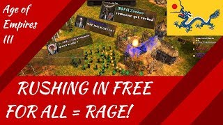 Rushing in Free For All = RAGE! Age of Empires III