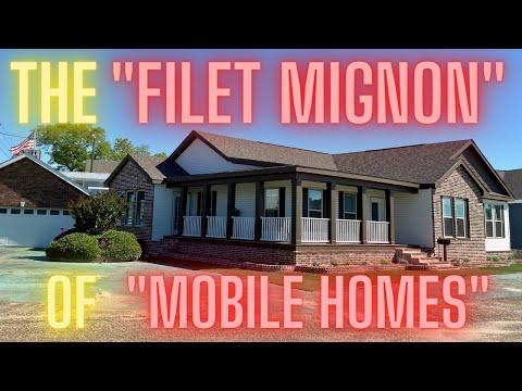 "The ""filet mignon"" of ""mobile homes"" (THE ONE)! Glamorous custom built modular home tour!"