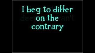 Green Day Walking Contradiction Lyrics
