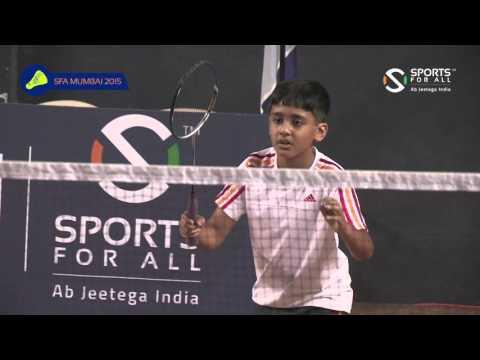 SFA Mumbai 2015 | Badminton | Aadit Jain Vs Aarav Ovalekar | Boys | U11 | Q/F