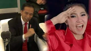 Download Video Jokowi Joget Dayung saat Via Vallen Nyanyikan The Song Asian Games Meraih Bintang MP3 3GP MP4