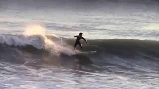 稲村ガ崎サーフィン(10/23pm4-5)ー台風21号一過、頭を越える大波にサーファーついていけず②