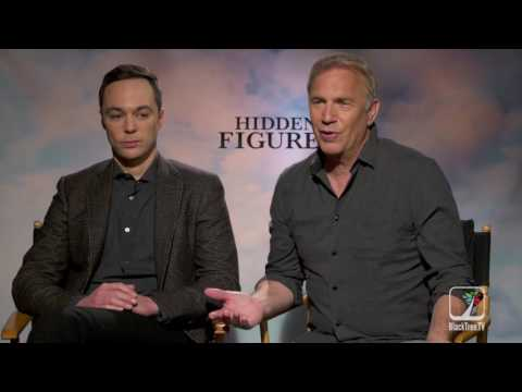 Kevin Costner and Jim Parsons interview for HIDDEN FIGURES